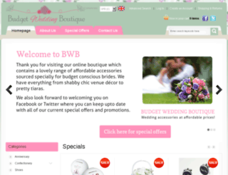 budgetweddingboutique.co.uk screenshot