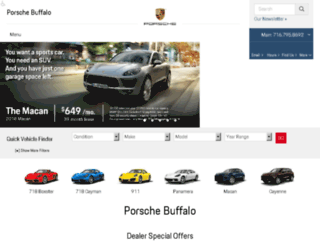buffalo.porschedealer.com screenshot