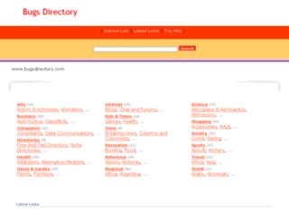 bugsdirectory.com screenshot