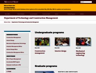 build.missouristate.edu screenshot