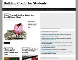 buildingcreditforstudents.com screenshot