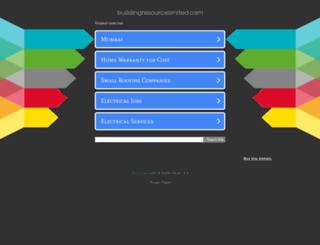 buildingresourcelimited.com screenshot