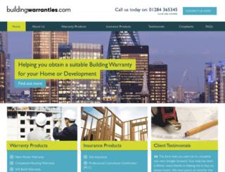 buildingwarranties.com screenshot