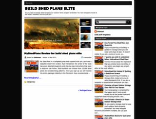 buildshedplanselite.blogspot.com screenshot