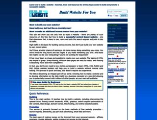 buildwebsite4u.com screenshot