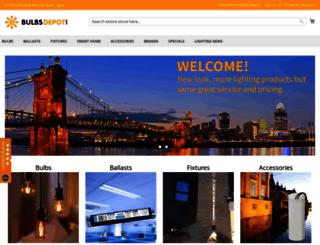 bulbsdepot.com screenshot