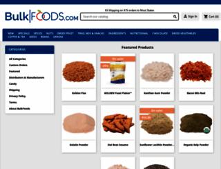 bulkfoods.com screenshot
