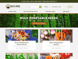 bulkseedstore.com screenshot