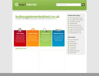 bulksupplementsdirect.co.uk screenshot