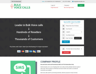 bulkvoicecalls.com screenshot