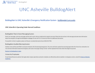 bulldogalert.unca.edu screenshot