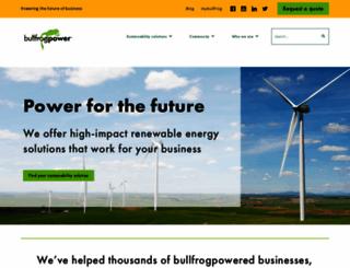 bullfrogpower.com screenshot