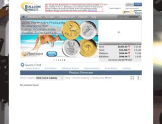 bulliondirect.com screenshot
