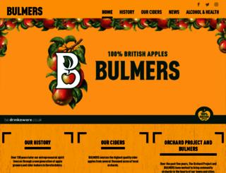 bulmers.co.uk screenshot