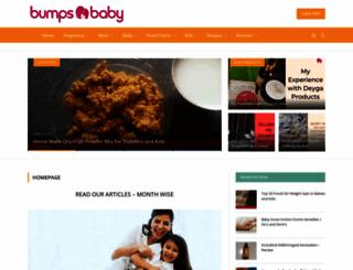 bumpsnbaby.com screenshot
