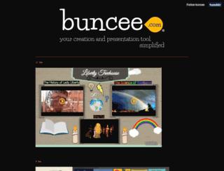 buncee.tumblr.com screenshot