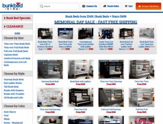 bunkbedking.com screenshot
