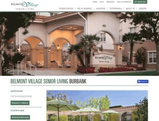 burbank.belmontvillage.com screenshot