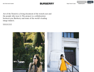 burberry.tumblr.com screenshot