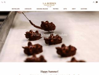 burdickchocolate.com screenshot