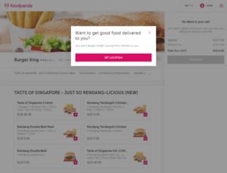 burgerking.foodpanda.sg screenshot