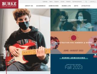 burkeschool.org screenshot