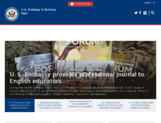 burkinafaso.usembassy.gov screenshot