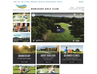 burleighgolfclub.com.au screenshot
