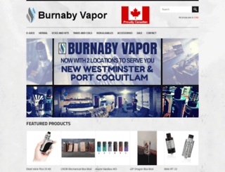 burnabyvapor.com screenshot