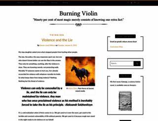 burningviolin.com screenshot