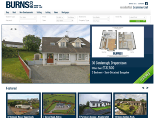burnshomes.co.uk screenshot