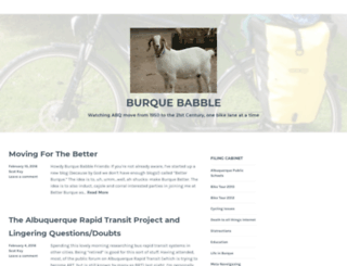 burquebabble.wordpress.com screenshot