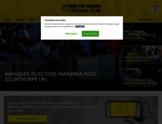 burtonalbionfc.co.uk screenshot