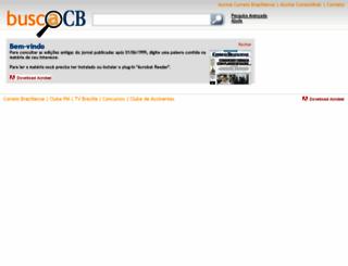 buscacb.correiobraziliense.com.br screenshot