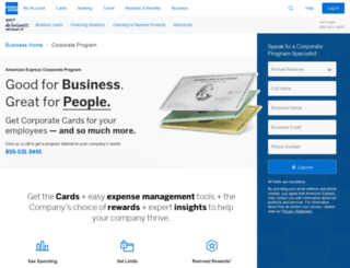 business.americanexpress.com screenshot