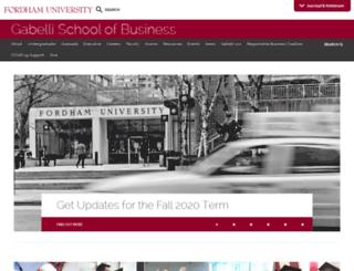 business.fordham.edu screenshot