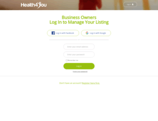 business.health4you.co.za screenshot