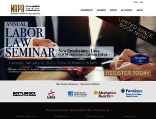 business.napachamber.com screenshot
