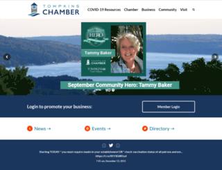 business.tompkinschamber.org screenshot