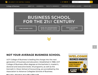 business.ucf.edu screenshot