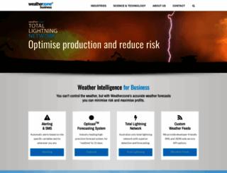 business.weatherzone.com.au screenshot