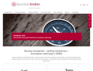 businessbroker.ch screenshot