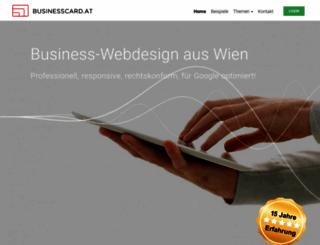 businesscard.at screenshot
