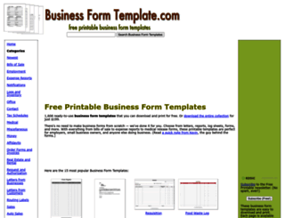 businessformtemplate.com screenshot
