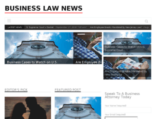 businesslawnews.com screenshot