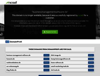 businessmanagementsoftware.de screenshot