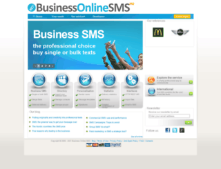 businessonlinesms.co.uk screenshot