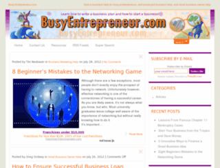 busyentrepreneur.com screenshot
