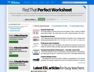 busyteacher.org screenshot
