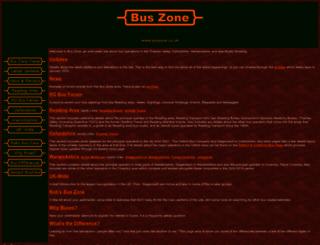buszone.co.uk screenshot